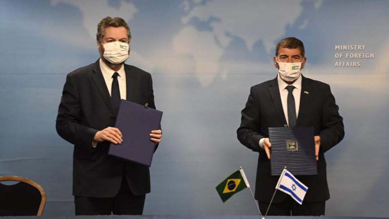 שר החוץ אשכנזי נפגש עם שר החוץ הברזילאי, ארנסטו אראוז'ו