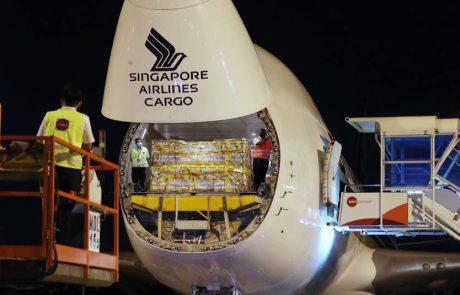סינגפור איירליינס הטיסה את המשלוח הראשון של חיסוני פייזר לאסיה