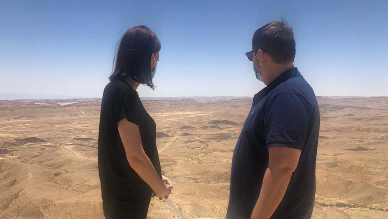 שר התיירות אסף זמיר ביקר בירוחם