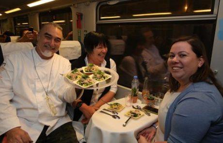 """כ-150 סועדים נהנו מפעילות """"רכבת השף"""" של רכבת ישראל"""