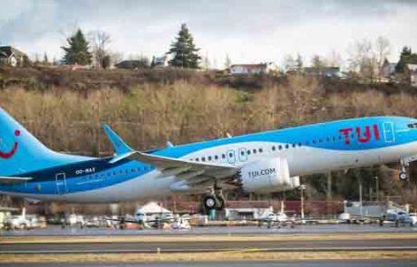TUI חוגגת את קבלת מטוס הבואינג 737   8 MAX