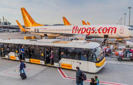 פגסוס איירליינס חוזרת להפעיל טיסות לישראל
